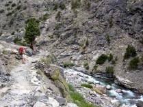Trail Hugs Rugged Canyon Walls