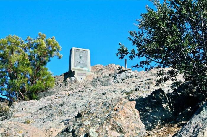 Memorial atop Mt. Allen, AKA Sandstone Peak