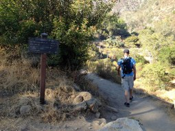 Heading up the ravine