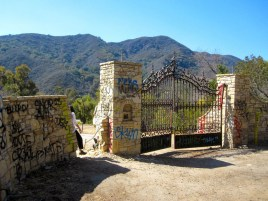 Main Gate to the Murphy Ranch Abandoned Nazi Compound