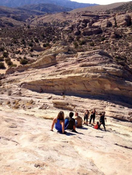 Looking down at from the top of Vasquez Rocks
