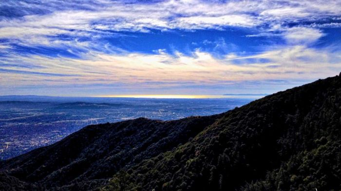 On a clear day, you might see the Pacific Ocean as you look back down the mountain