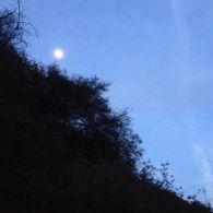 Moonrise in Temescal Canyon