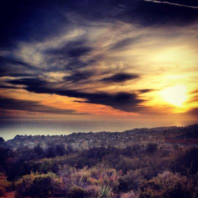 Sunset from the Temescal Ridge Trail