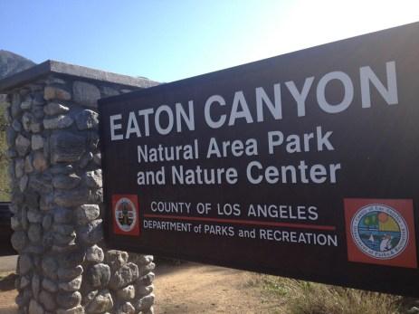 Entrance to Eaton Canyon Natural Area Park