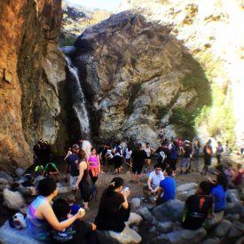 Crowds at Eaton Canyon Falls