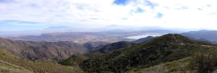 Lake Elsinore from the Main Divide