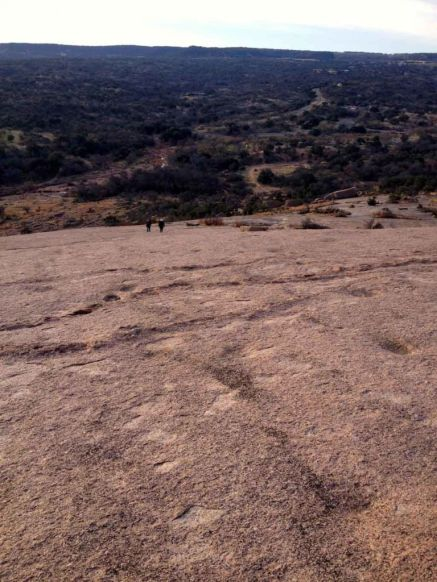 The view down Enchanted Rock