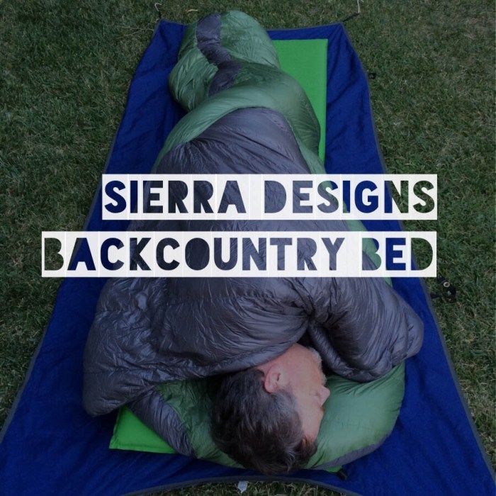 Review of the Sierra Designs Backcountry Bed