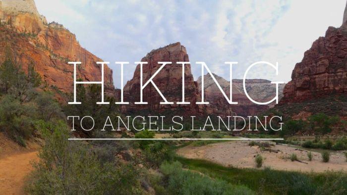 Hiking to Angels Landing
