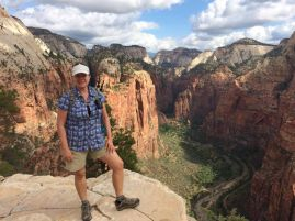 Joan on the Edge of Angels Landing