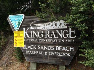 Black Sands Beach Trailhead Sign