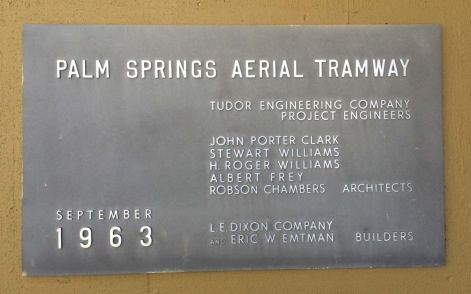Palm Springs Aerial Tramway Plaque
