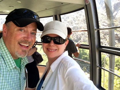 SoCal Hikers riding the tram