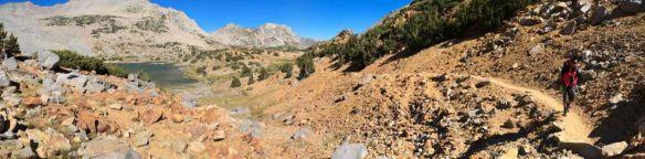 Looking back toward Bishop Lake