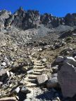 Steps up to Bishop Pass