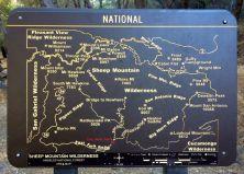 Sheep Mountain Wilderness Area Map
