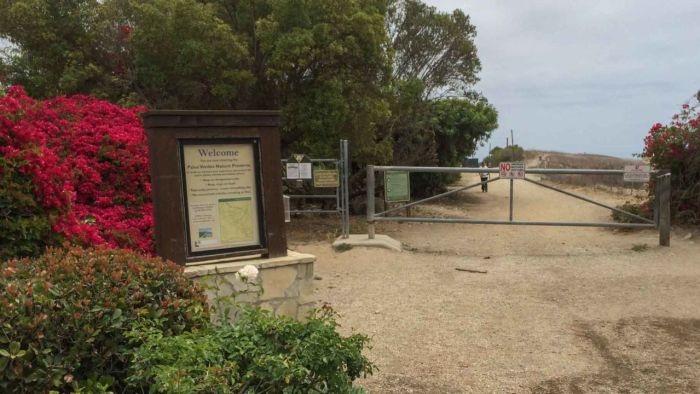 Entrance to Portuguese Bend Reserve