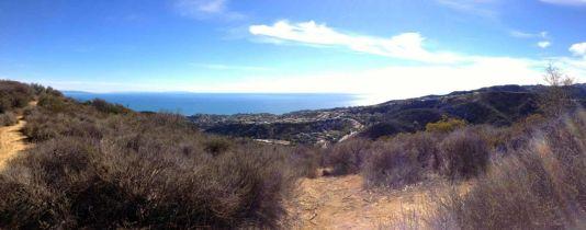 Panoramic view of Palisades coast from Temescal Ridge