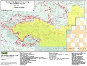 San Gorgonio Wilderness Trail Closures as of 7-16-2015