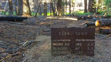 Partially Buried Trail Sign