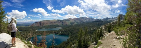 Looking down on Lake George and Lake Mary