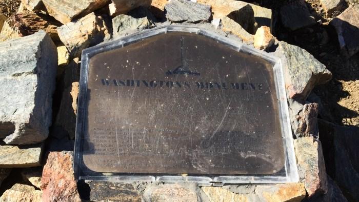Washington's Monument -- near the summit of San Bernardino Peak