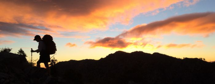 Joan on the Approach to Cucamonga Peak