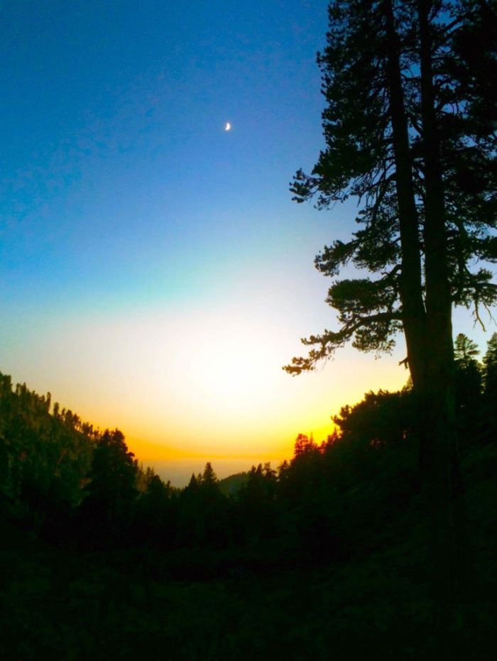 Sunset from our campsite at High Creek