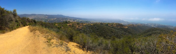 Panorama from the Los Leones Trail