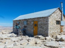 The hut on the summit of Mt Whitney