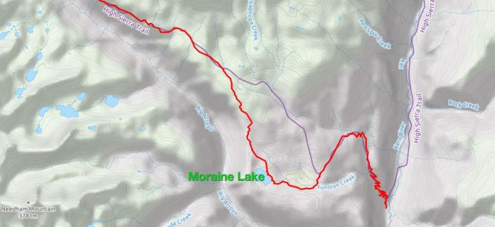 Moraine Lake is a worthy detour off the official High Sierra Trail