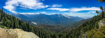 Eagle View Panorama on the High Sierra Trail