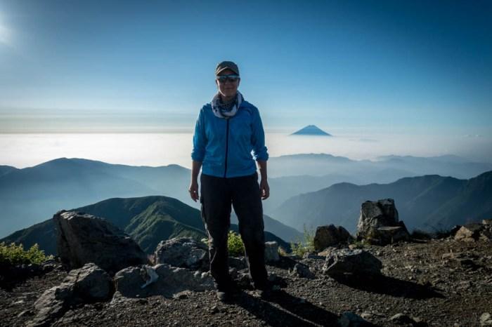 Sarah atop Mt Kita Dake, the second highest peak in Japan