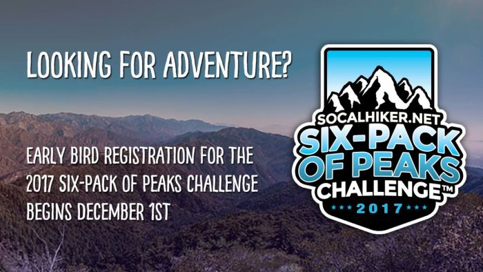 Looking for Adventure? Sign-up for the Six-Pack of Peaks Challenge!