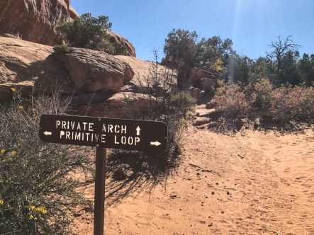 Spur trail to Private Arch