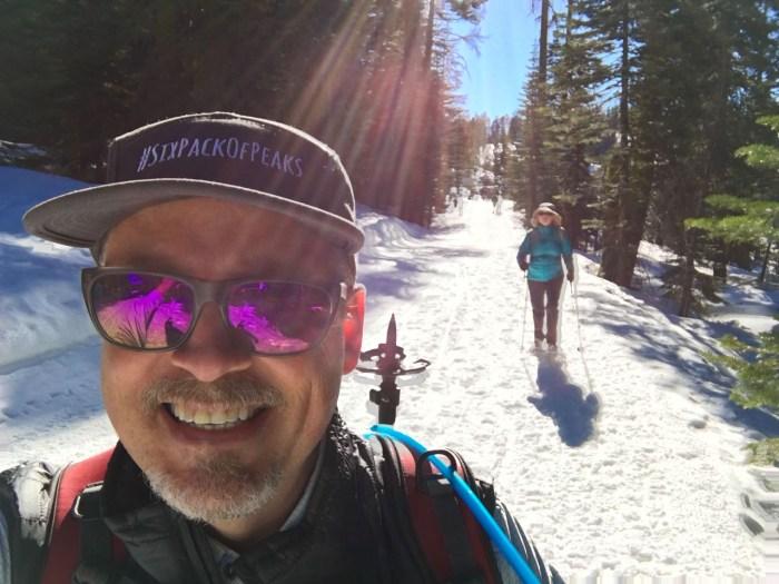 Snowshoeing is fun!