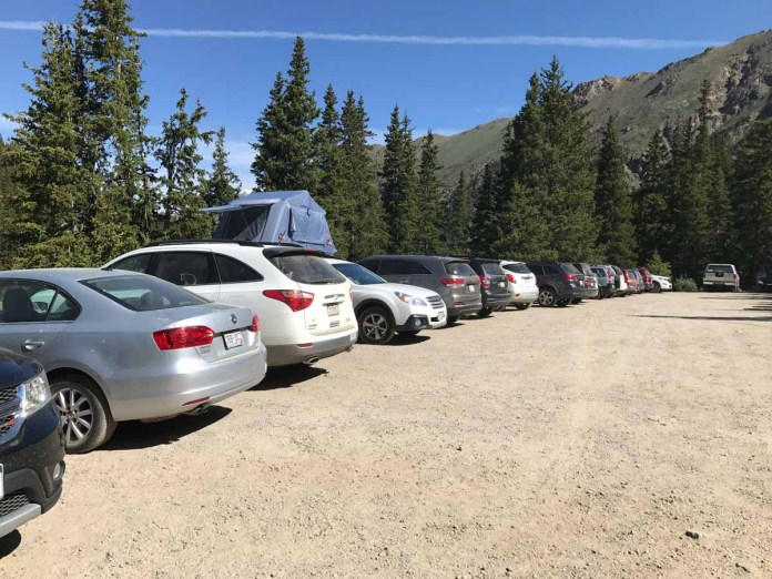These cars all made it to the trailhead