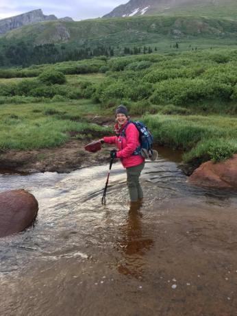 Crossing Scott Gomer Creek en route to Mt Bierstadt