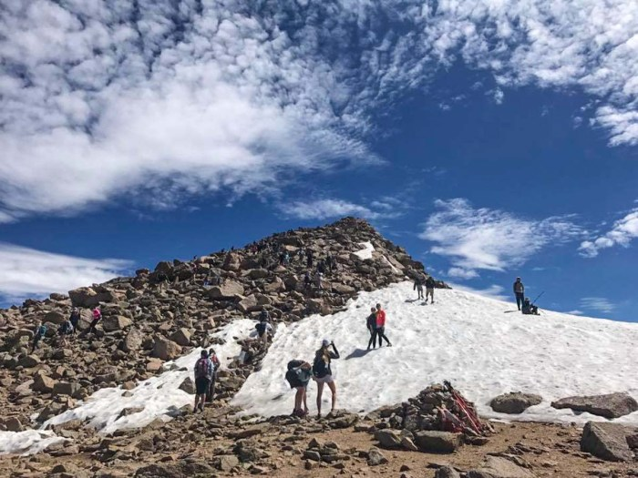 Patch of snow near the top of Mt Bierstadt