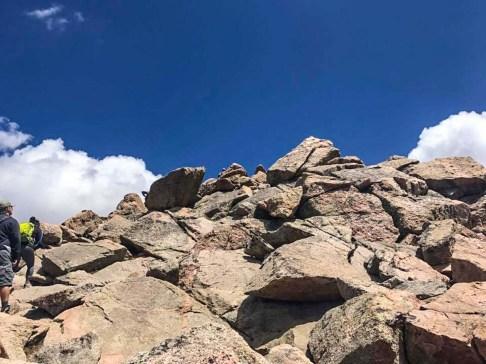Scramble to the top of Mt Bierstadt