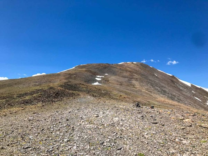 Ridge line toward Horseshoe Mountain