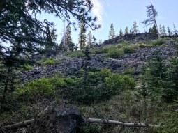 Volcanic rubble
