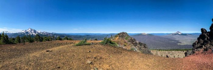 Panorama from the summit of Black Crater