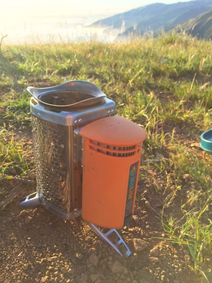 BioLite stove in Big Sur