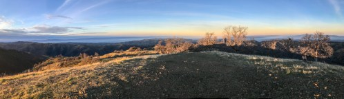 Panoramic sunrise at Rose Peak