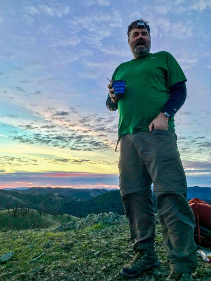 Coffee on the summit of Rose Peak