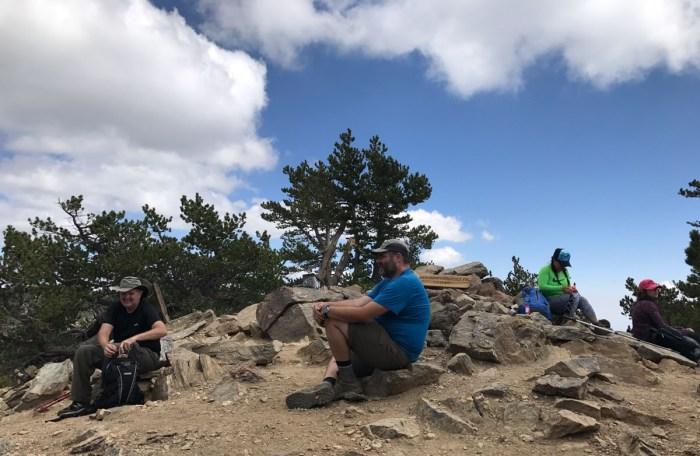 Chilling at the summit of San Bernardino Peak