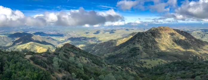 The view from Mt Diablo