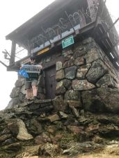 Author at the Fire Lookout on Mt Tam